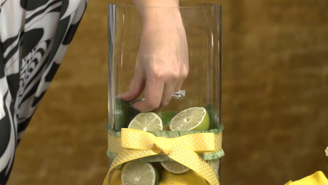How To Create A Centerpiece With Lemons Limes Event Flowers