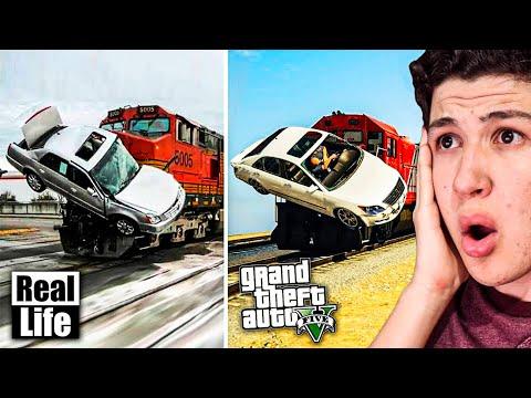 GTA 5 VS VIDA REAL!! #2 GRAND THEFT AUTO V EN LA VIDA REAL thumbnail
