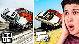 GTA 5 VS VIDA REAL!! #2 GRAND THEFT AUTO V EN LA VIDA REAL
