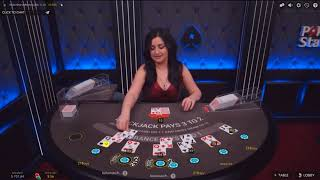 $900 против живого дилера на ПокерСтарс!Online BlackJack with Live Dealer on PokerStars