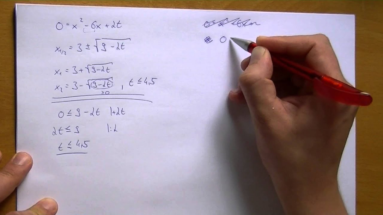 Quadratische Gleichungen mit Parameter lösen - 2 Parameteraufgaben ...