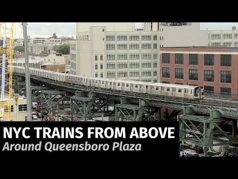 NYC Subway: Trains from Above at Queensboro Plaza