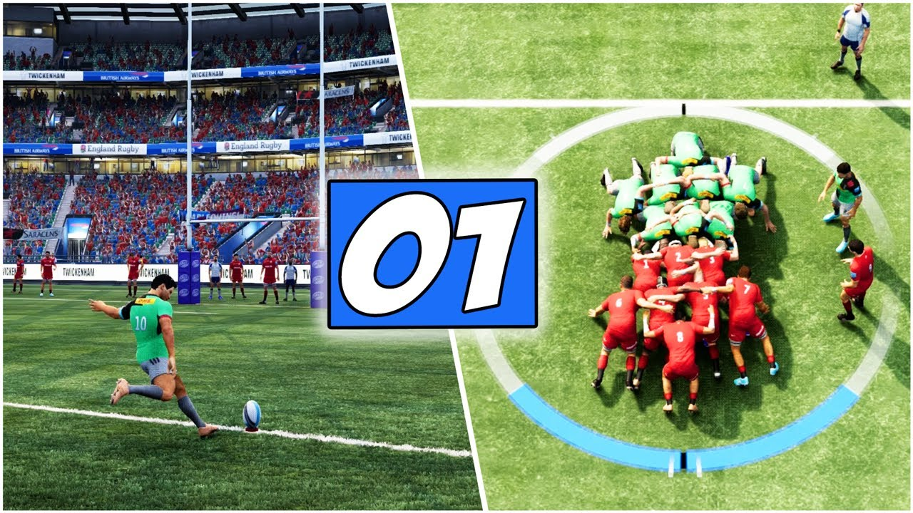 "Rugby Challenge 4 ""How To Play"" Gameplay *OUR FIRST MATCH* Saracens Vs Harlequins 
