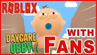 Roblox Mrs Samantha Daycare Obby with Fans!