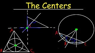 Incenter, Circumcenter, Orthocenter & Centroid of a Triangle - Geometry