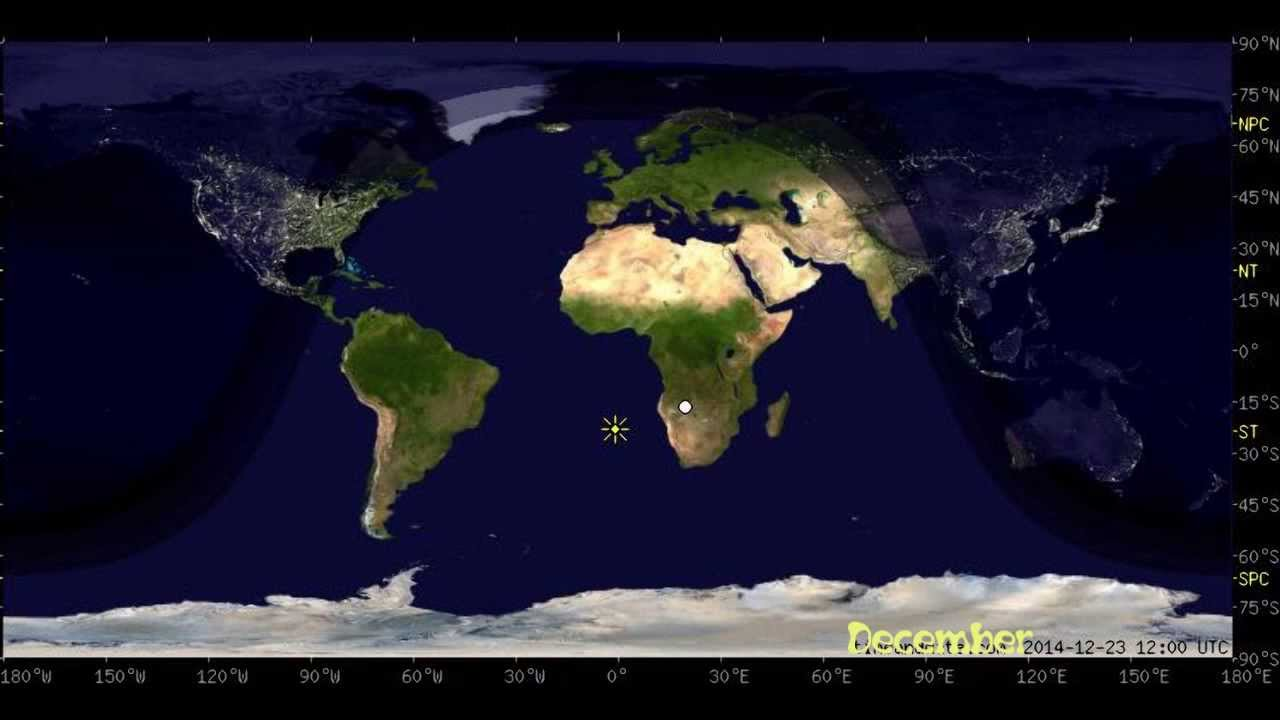 Animated Day and Night World Earth Map with Sun and Moon position ...