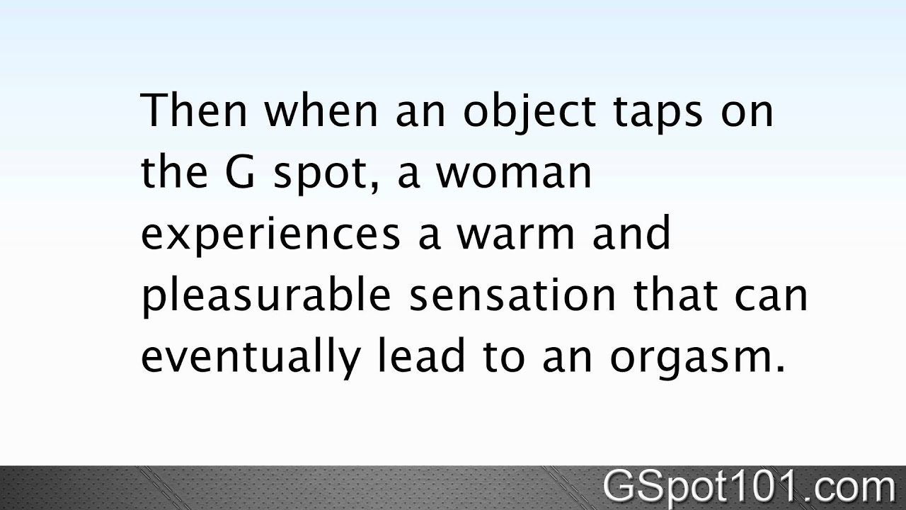 Where is the G Spot Located - YouTube