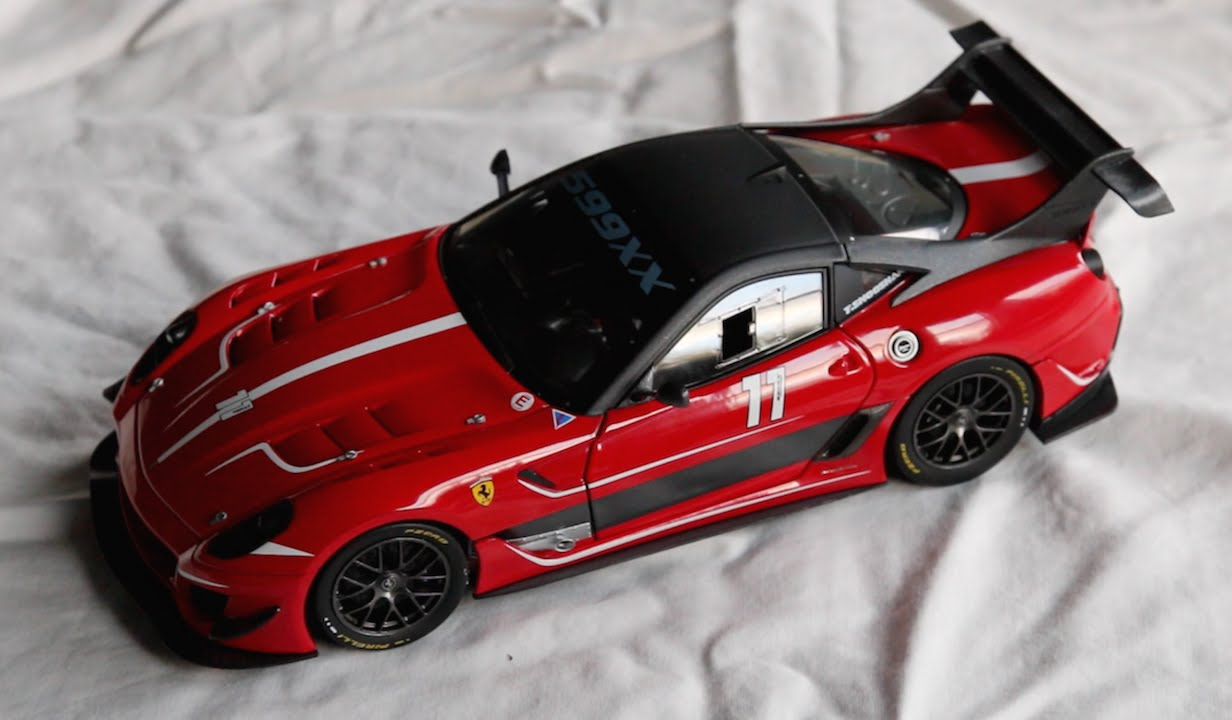 review 1 18 scale hot wheels elite ferrari 599xx evo. Black Bedroom Furniture Sets. Home Design Ideas