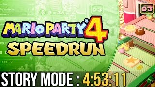 Mario Party 4 Story Mode (Normal) Speedrun in 4:53:11