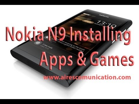 Nokia N9 installing Apps and Games