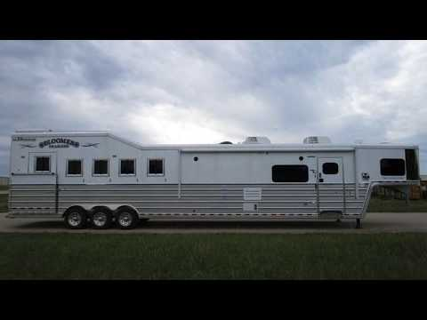 New 2018 Bloomer Trailers 5 Horse 18' Outlaw Conversions Trailer For Sale in Texas & Oklahoma