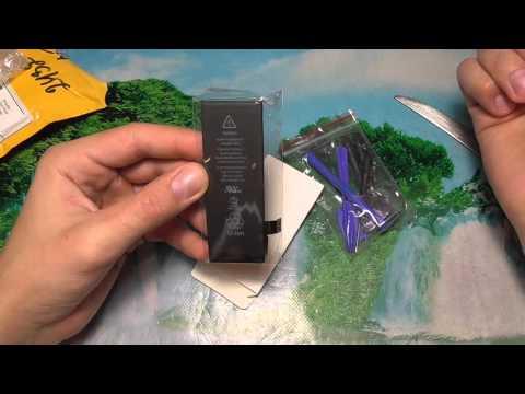 Посылка № 244 с Aliexpress Аккумулятор для iphone 5s
