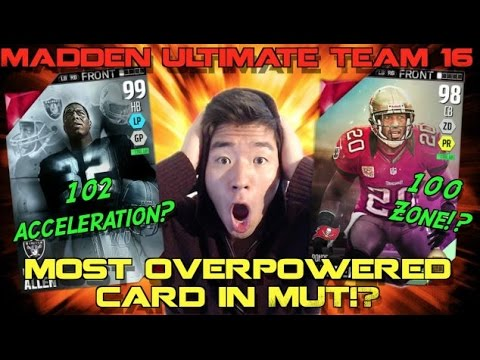 DOMINATING w/ Marcus Allen & Easter Ronde Barber! 102 Acceleration!? Madden Ultimate Team 16