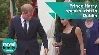 Prince Harry speaks Irish in Dublin