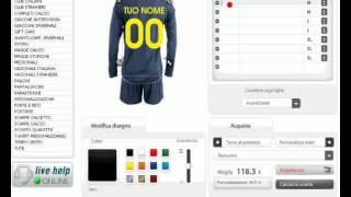 Calcioshop.it - tool di personalizzazione completi