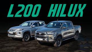 Mitsubishi L200 vs обновленный Toyota Hilux. Какой пикап лучше? Прощай, Amarok! Сравнительный тест