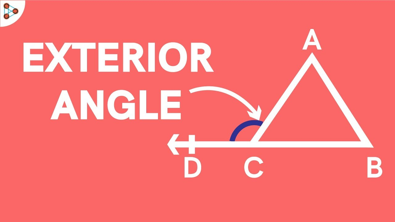 what is the relation of an exterior angle of a triangle with its interior angles youtube