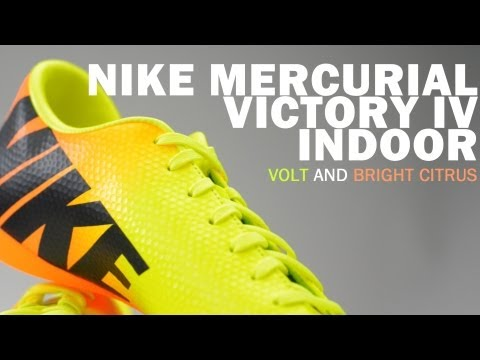 44c1aa1b4abf Nike Mercurial Victory IV Indoor Soccer Shoes - Volt and Bright Citrus  Unboxing - YouTube