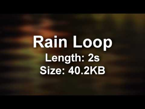 Free High Quality Rain loop for your games/videos