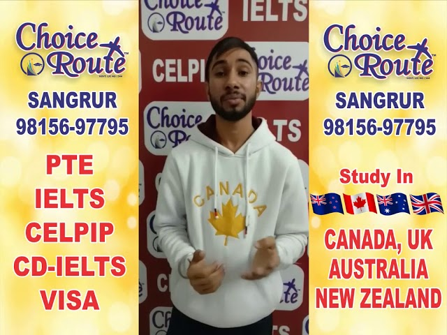 Congratulations Gagandeep Singh - Choice Route is the Best PTE and IELTS institute in Sangrur City.