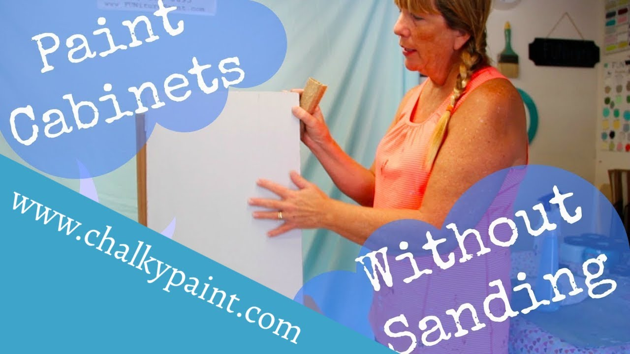 how to paint cabinets without sanding or priming using chalky
