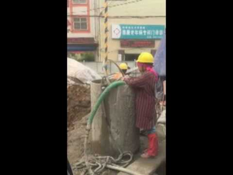 Bi-fluid jet grouting - Pile foundation machinery jet grouting drill