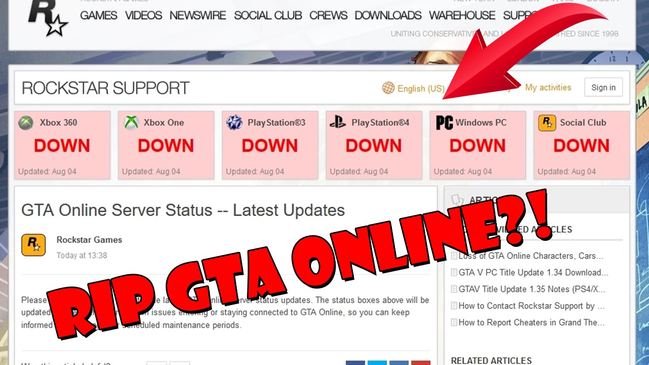 gta v rockstar cloud servers unavailable