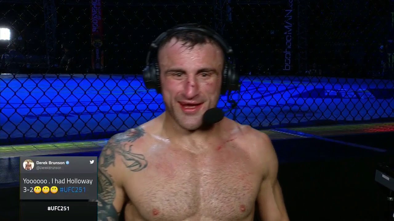 UFC 251: Александр Волкановски - Слова после боя