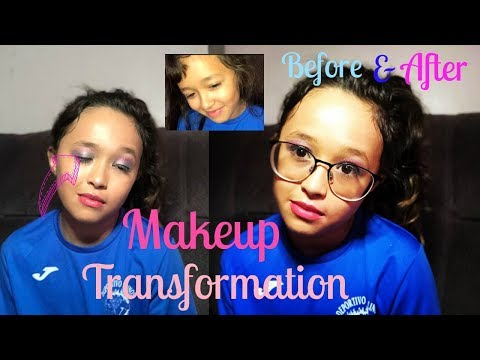 MAKEUP TRANSFORMATION | BEFORE & AFTER (10 YEAR OLD) : MAABMakeup