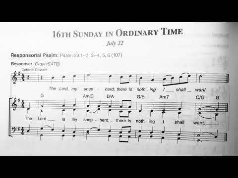 16th Sunday in Ordinary Time Responsorial Psalm