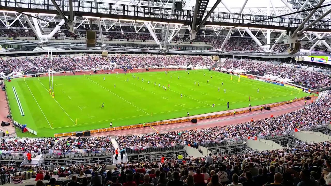 Olympic Stadium London Seating View From Back Mk2 Upper Bowl East Stand Youtube