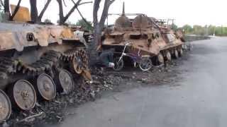 Как четыре Т-90 колонну украинской бронетехники на зап. части разобрали.