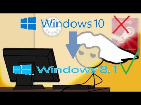 What it feels like downgrading to windows 8 1