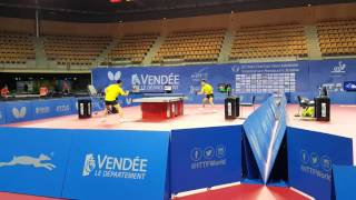 Liu DIngshuo & Xue Fei  - Chinese National Team -  2/3rd Forehand Pivot Practise