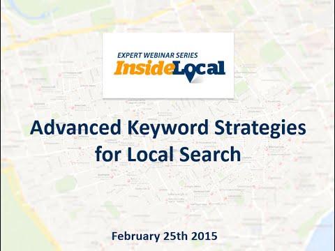InsideLocal Webinar: Advanced Keyword Strategies for Local Search