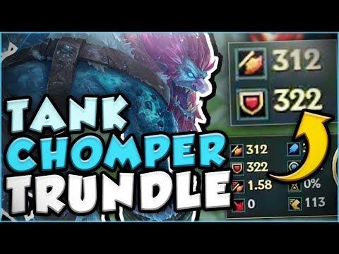 TANK CHOMPER TRUNDLE SMASHING THE TANK META! TRUNDLE TOP GAMEPLAY SEASON 7! - League of Legends