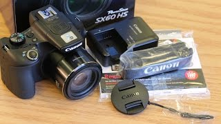 NEW! Canon PowerShot SX60 HS Hands On, Unboxing, and Initial Review (Plus Sample Video & Pictures)
