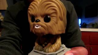 Funko - POP Deluxe: Star Wars Chewbacca in AT-ST #236