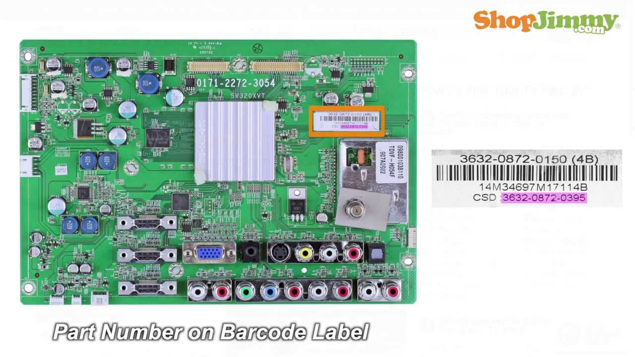 vizio sv main boards replacement guide for vizio vizio sv3 3632 0872 0395 main boards replacement guide for vizio lcd tv repair
