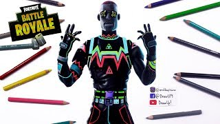 How to Draw Fortnite's NEON Skin Battle Royale