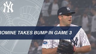 Austin Romine takes the mound in Game 3 of the ALDS