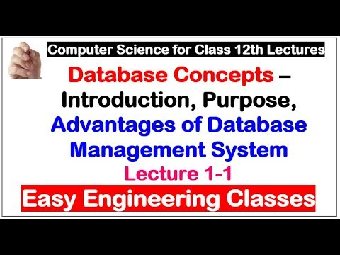 Database Concepts – Introduction, Purpose, Advantages of Database Management System - Lecture 1-1