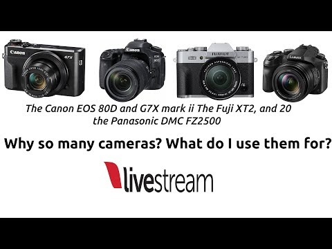 PANASONIC FZ2500, CANON G7X MARK2, EOS80D, FUJI XT2 AND 20