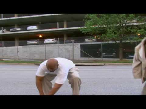 "Kenny Smith tries to jump over  car with ""Nike Hyperdunks"""