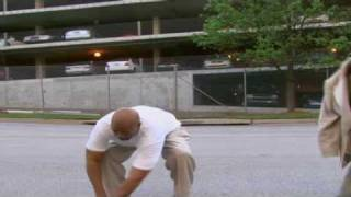 """Kenny Smith tries to jump over  car with """"Nike Hyperdunks"""""""