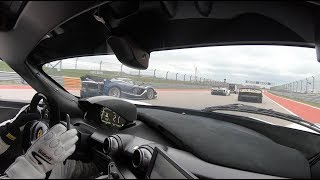 Passenger in a Ferrari FXX-K at Circuit of the Americas! Parade Laps & Hot Laps