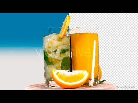 Juice On Transparent Background - Stock Footage