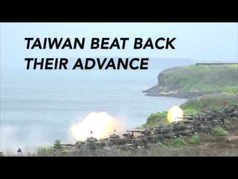 Taiwan's military troops fend off mock China attack on Penghu