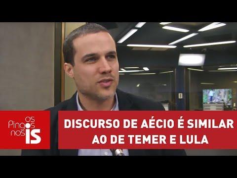 Felipe Moura Brasil: Discurso De Aécio é Similar Ao De Temer E Lula