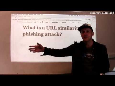 What is a URL similarity phishing attack?